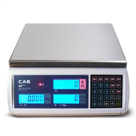 Cas Er-Plus mérleg 15Kg Hitelesítéssel