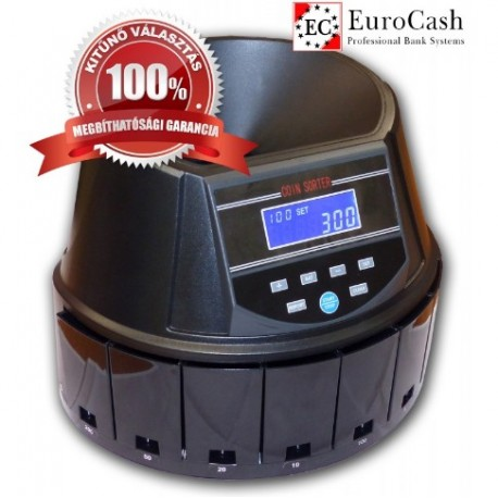EuroCash EC-550 érmeszámláló, szortírozó pénzszámoló gép FORINT érmékhez