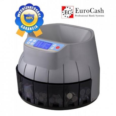 EuroCash EC-700 professzionális érmeszámláló, szortírozó pénzszámoló gép FORINT érmékhez