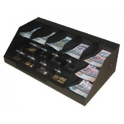 7 rekeszes bankjegytároló érmetálcával